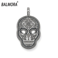 Wholesale Hot Fashion 925 Sterling Silver Charm Skull Charm Fit For Necklace Gift For Lover Free