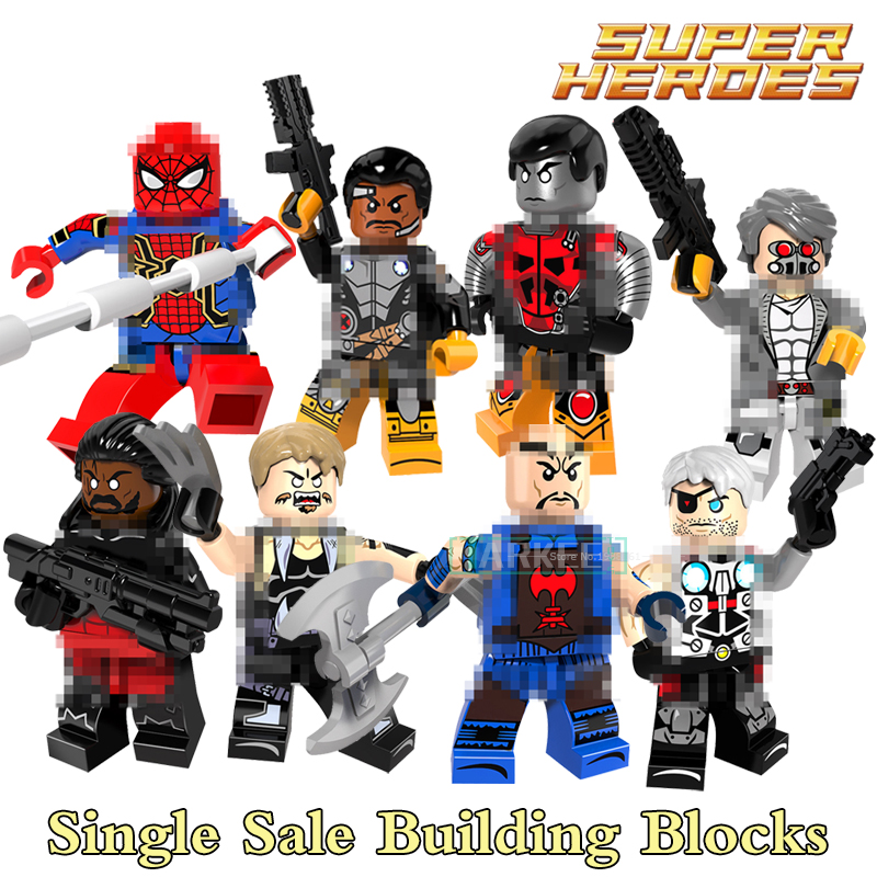 Building Blocks Saber-toothed Colossus Iron Spider-Man Super Heroes Star Wars Bricks Dolls Kids DIY Toys Hobbies PG8083 Figures building blocks the walking dead figures rick negan carl daryl star wars super heroes set assemble bricks kids diy toys hobbies