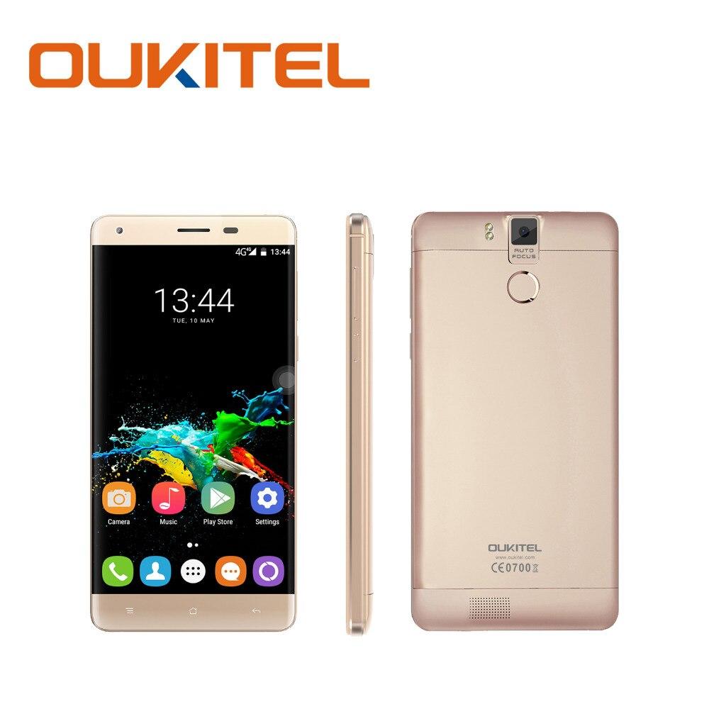Цена за Oukitel k6000 pro смартфон 4 г 5.5 дюймов 3 ГБ ram 32 ГБ ДИСК С 13MP Камера Окта основные Отпечатков Пальцев Отпечатков Пальцев Сенсорный Android телефон