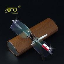 ラインストーンリムレス老眼鏡ケースと男性 Oculos デ Leitura 反射防止 + 1.00 + 1.50 + 2.00 + 2.50 + 3.00 + 3.50 + 4.00
