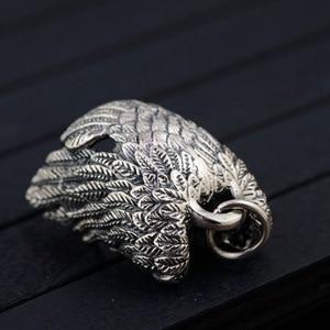 Image 5 - BALMORA 925 סטרלינג כסף נשר קסם תליוני עבור נשים גברים זוג מתנת פאנק מגניב בציר תכשיטים ללא שרשרת