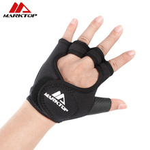 Gym gloves fitness gloves Silicone Antislip Breathable weight lifting sports training gloves Lengthened bandage Dumbbell M5050 цена