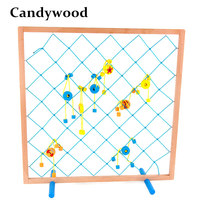Candywood 57 57CM Super Large Big Fishing Toys Fishing Net Wooden Toys Fun Fishing Up To