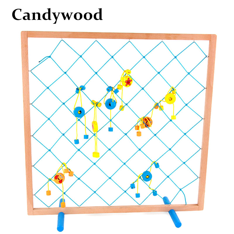 Candywood 57*57CM Super Large big Fishing Toys Fishing Net Wooden Toys Fun fishing up to people game toys for kids best gift