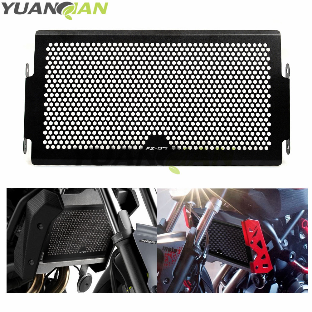 FOR FZ-07 LOGO Motorcycle Radiator Cover Bezel Grille Guard Protector Aluminum for Yamaha MT07 MT-07 FZ07 FZ-07 2014 2015 waase radiator protective cover grill guard grille protector for yamaha mt 07 mt07 fz 07 fz07 2013 2014 2015 2016