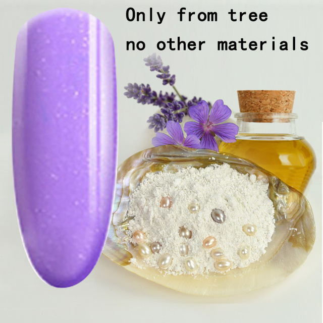 TREEINSIDE natural pure Healthy brand-Lavander extracted new nail gel polish need uv led lamp to cure green safe healthy brand