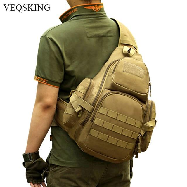 8abd59e79047 Outdoor Molle Tactical Shoulder Bag Camouflage Military Chest Bag Nylon Men s  Shoulder Sling Travel Hiking Sports Crossbody Bag