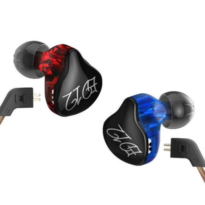 KZ ED12 в ухо наушник синий и красный съемный кабель аудио мониторы Шум изоляция HiFi музыка спортивные наушники С микрофоном
