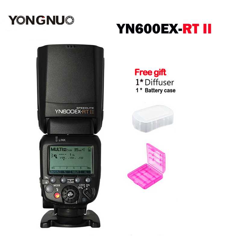 New YONGNUO Flash Speedlite YN600EX RT II 2 4G Wireless HSS 1 8000s Master TTL Speedlight