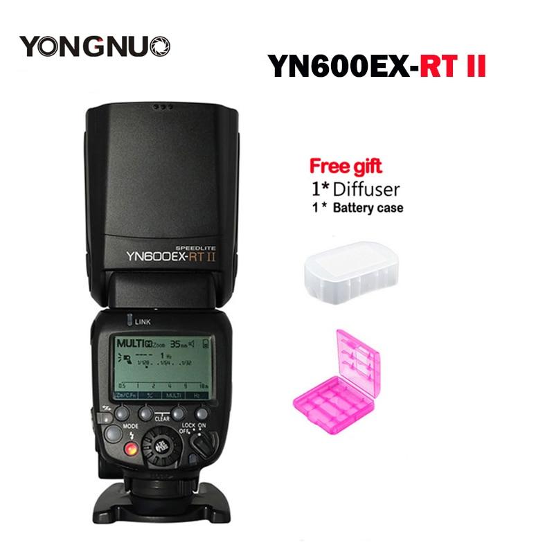 New YONGNUO Flash Speedlite YN600EX-RT II 2.4G Wireless HSS 1/8000s Master TTL Speedlight for Canon as 600EX-RT YN600EX-RT yongnuo yn e3 rt ttl radio trigger speedlite transmitter as st e3 rt for canon 600ex rt yongnuo yn600ex rt