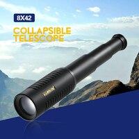 Visionking 25x30 High Power Mini Compact Monocular BAK4 Roof Prism Portable Collapsible Telescope Binoculars Monocular