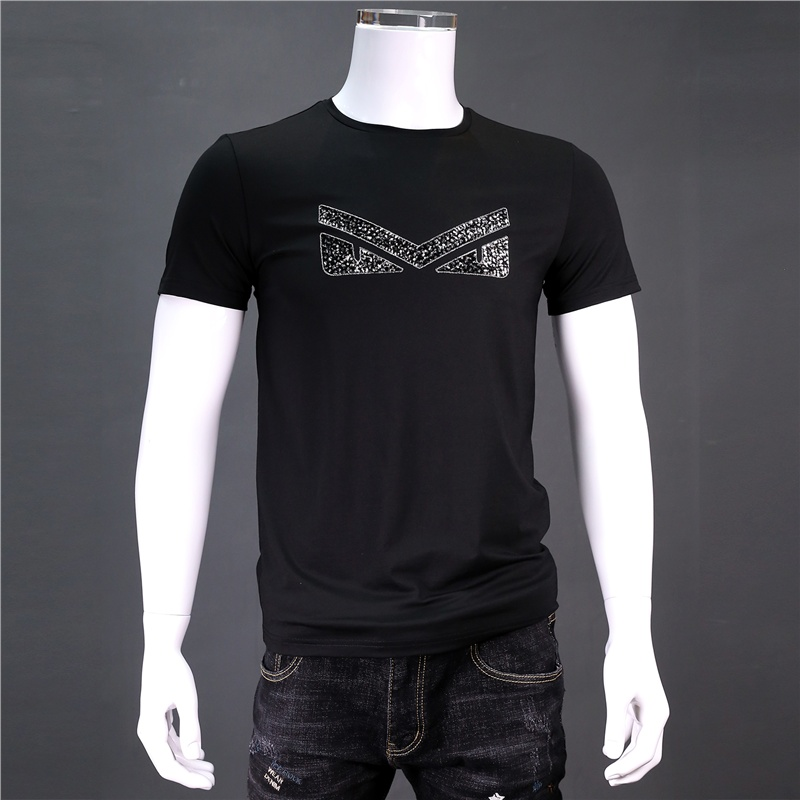 Simple basic 2019 New Brand Mens T-Shirts Summer 100% cotton Short Sleeve T Shirts casual Tee Shirts Male shirt Homme Plus Size