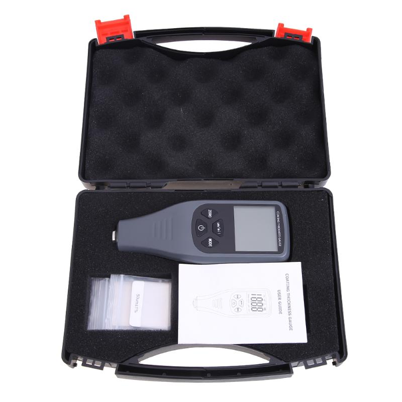 Digital LCD Thickness Gauge Coating Thickness Tester Handheld Paint Film Painting Metal Width Tester Measuring Tool Backlight digital film coating thickness gauge mini ultrasonic automotive lcd car coat painting thickness tester width measure meter gm200