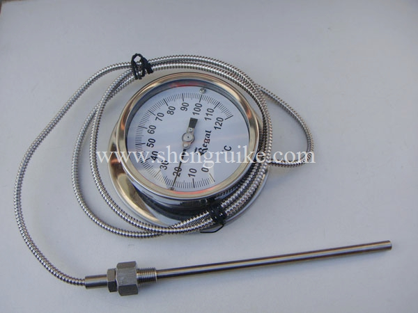 цены Remote bimetal thermometer with Capillary dial 6