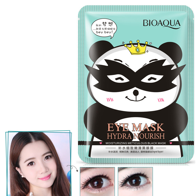 BIOAQUA Black Eye Mask Hydrating Meticulous Smooth Fade Dark Circle Eye Bag Anti-Wrinkles Moist Brighten Eye Care