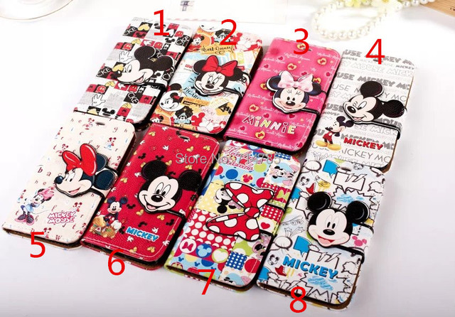competitive price 3c17a a4573 US $8.27  For iPhone 6 4.7'' Plus 5.5'' Mickey Mouse Minnie Cute Cartoon  Leather Wallet Case For Samsung Galaxty note 4 Luxury Card Cover on ...