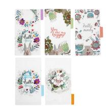 5Pcs A5/A6 Floral Category Planner Index Page Notebook Trans