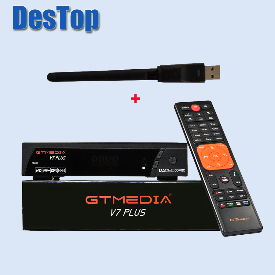 3PCS LOT GTMEDIA V7 PlUS 1080P Full HD DVB S S2 T T2 Support H 265