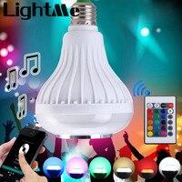 2016 E27 Лампа Умный Красочный СВЕТОДИОДНЫЕ Лампы Bluetooth 3.0 Динамик для Домашнего Этапа Энергосберегающие СВЕТОДИОДНЫЕ Лампочки 1433895