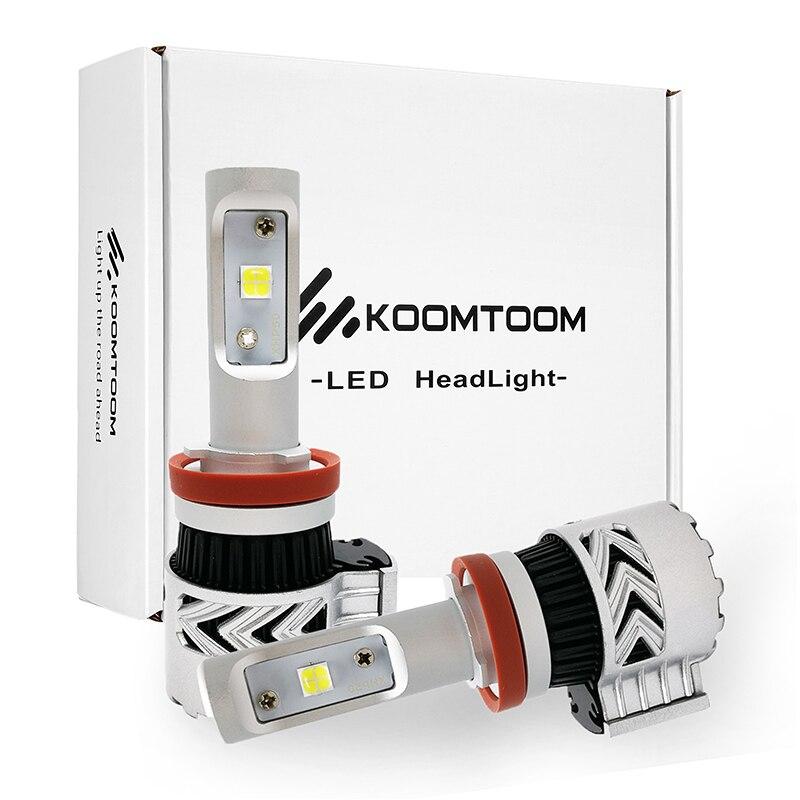 Car Headlight Bulbs H8 H11 LED H16JP H16EU H9 H8 H11 LED Bulb Headlights 72W 12000LM White 6500K Light K8E