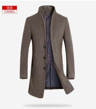 Foreign trade spring and autumn new men's wear large size windbreaker Korean version slim body in long men's coat men2018