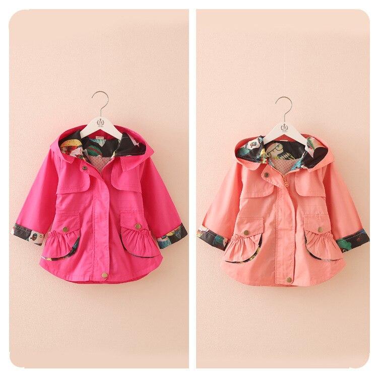 2016 New Baby Girl's Fashion jackets Girls Outerwear & Coats Trench Girls Hoodies Jackets Windbreaker Jacket For Little Girl