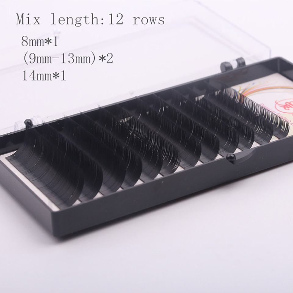 Newcome 4 Cases Cheap Eyelashes Mixed Length Eyelashes For Building