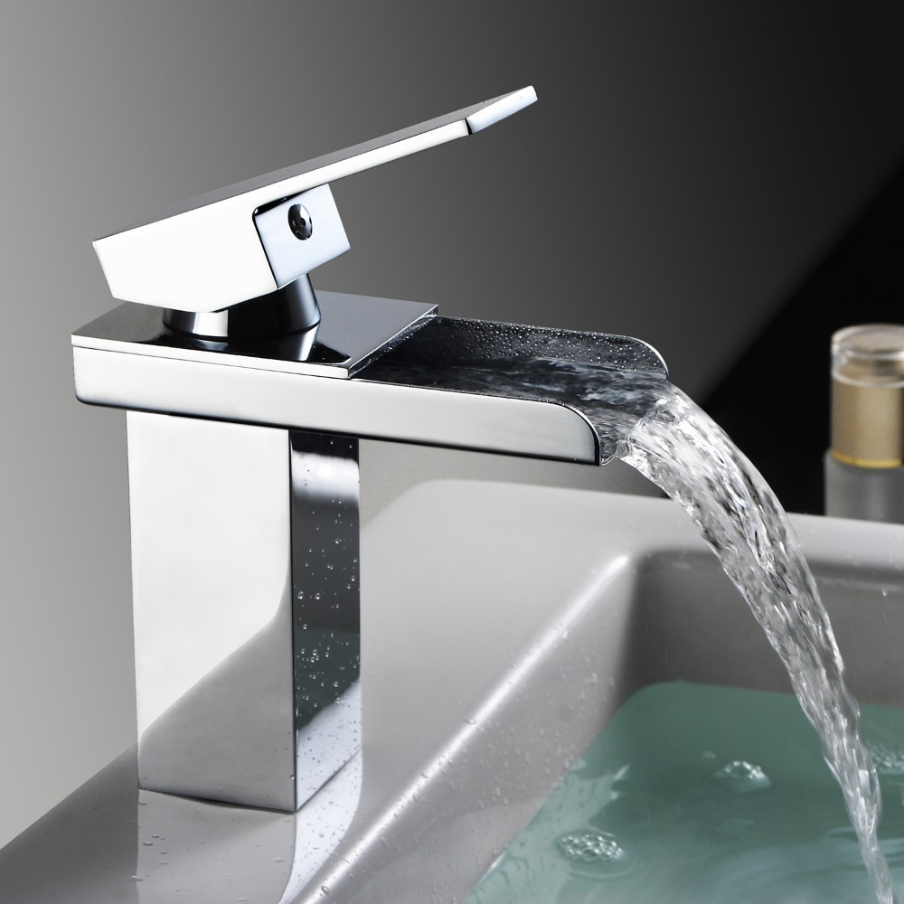 single handle bathroom sink waterfall faucet, waterfall basin mixer taps, lavatory basin mixer tap, bathroom sink faucet  LT-501