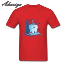 Men Dental Hygiene Tooth Healthy Funny t shirts Great tshirt Homme Plus Size XXXL fitness clothing t-shirt print for Family tees(China)