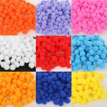 10mm Multicolor 300pcs/lot Soft Fluffy Pom Ball Handmade Pompom For Kids Toys DIY Craft Supplies Accessories