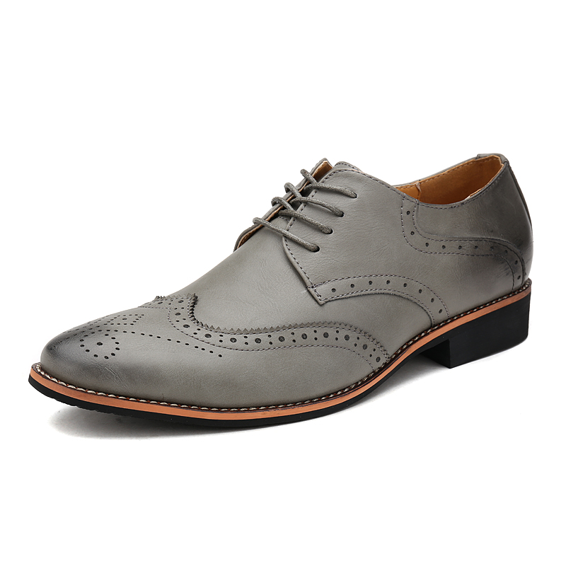 Klywoo New Brogue Oxford Shoes For Men Dress Microfiber Leather Office Formal Zapatos Hombre Mens Oxfords In From On