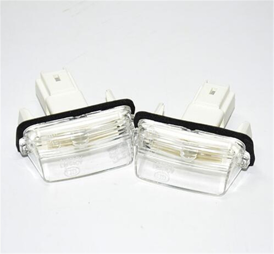 2PCS OEM Rear License Plate Lights for Citroen C3 C4 C5 Picasso Peugeot 206 207 307 License Number Plate Lamp Light 2pcs led license number plate light for peugeot 206 207 306 307 308 5008 406 407 for citroen picasso c3 c4 c5 c6 saxo xsara