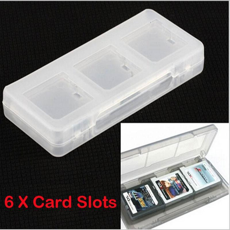 6in1 Прозрачная защитная жесткая пластмассовая коробка для хранения чехол держатель для Nintendo NDS 2DS NDSL NDSI новый 3DS LL/XL 3dsxl 3dsll игровой карты