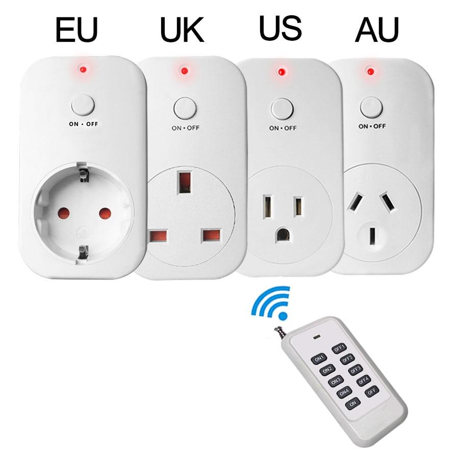 Smart Wireless Socket RF433 Remote Control Plug Outlet EU US UK AU Wall Socket Smart Home Էլեկտրական հոսանքի վարդակից բարձր Quanlity