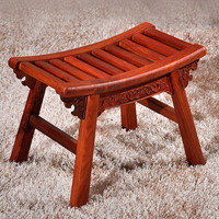 15%Solid wood creative stool rosewood wooden bench home decoration shoes bench mahogany table stool children's toy stool