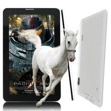 7 pulgadas Quad Core 2G Hacer Phone Call Tablets Pc Bluetooth Wi-Fi Ranura Para Tarjeta Sim puerto Puerto Soporte GSM Llamada de Color Blanco y Negro