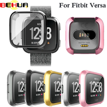 New Ultra-thin Soft Plating TPU Case Cover For Fitbit Versa Full Protection Silicone Cases wearable devices Smartwatch Protector