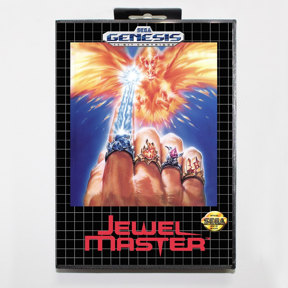 New 16 bit MD game card - jewel master with Retail box For Sega genesis system image
