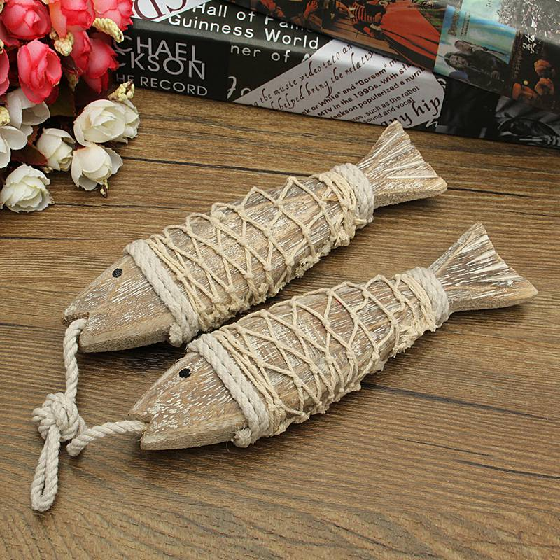 Hanging Decorations For Home: Hot Sale 2Pcs Mediterranean Style Retro Rustic Hand Carved