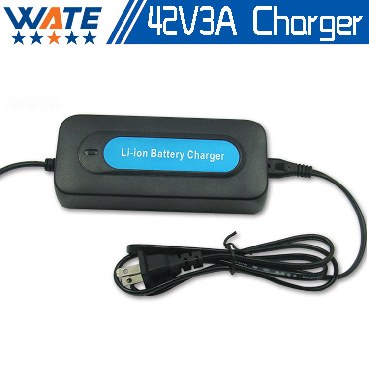 Free shipping 42V 3A DC Li ion battery charger Output 42V 3A charger Used for 36V
