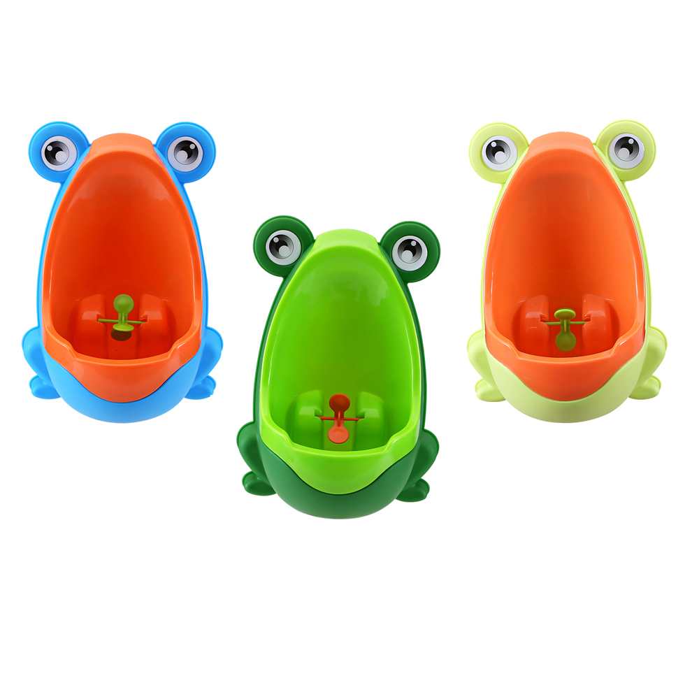 Baby Potty Toilet Training Frog Children Stand Urine Groove Separation Urinal For Boys Pee Trainer Hook Type