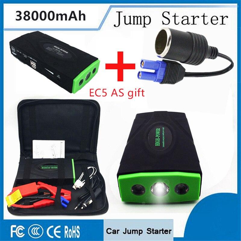 все цены на Super Power Car Jump Starter Power Bank 600A Portable Car Battery Booster Charger 12V Starting Device Petrol Diesel Led Lighter