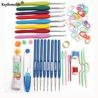 Keythemelife 16 Sizes Crochet Hỗn Hợp Phụ Kiện May Đặt 53 cái/bộ Knitting Needles Loom Tool May kit DIY Thủ Công Mỹ Nghệ C3