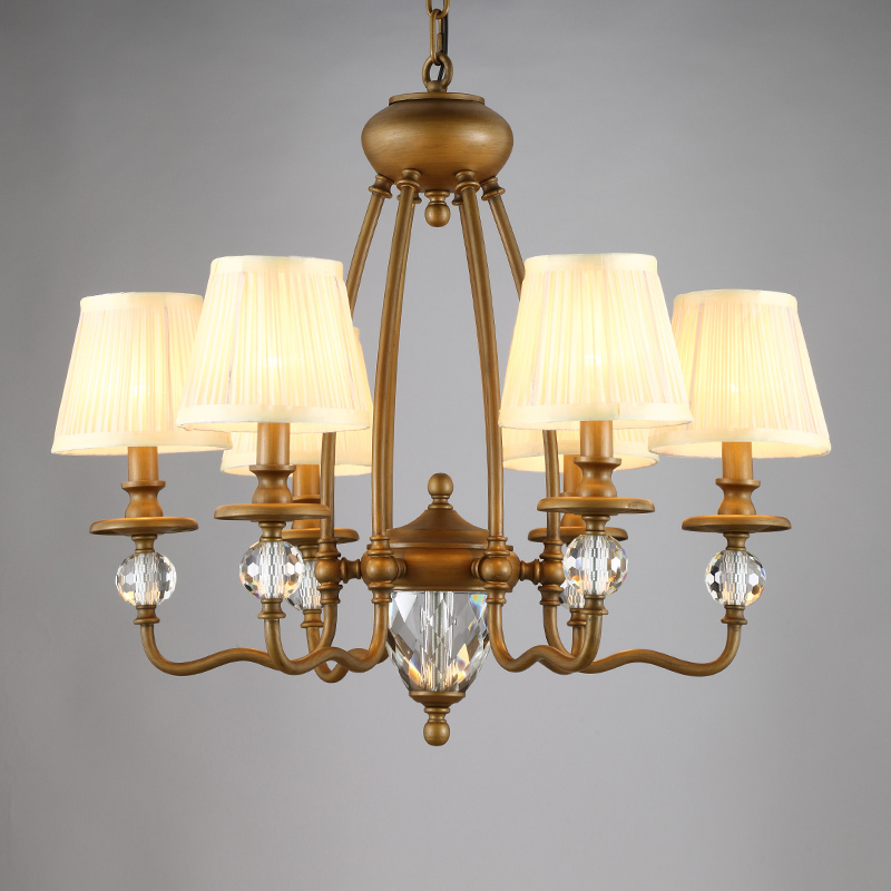 classical rustic Vintage Crystal Chandeliers Bronze Iron Lamp Restaurant Retro Ceiling Chandelier Bedroom Living Room Light 2017 luminaria american retro crystal iron chandelier living room bedroom restaurant golden vintage art lighting free shipping