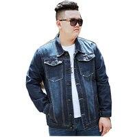 Loose Large Size Blue Men Denim Jackets For Men Jacket Collar Cotton Outerwear Jean Jacket Men