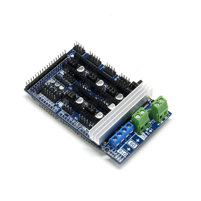 Rampas 1,6, Control de expansión, piezas de impresora 3D, rampas 1,4 1,5, Panel de Control con disipador térmico actualizado para placa de impresora 3D arduino