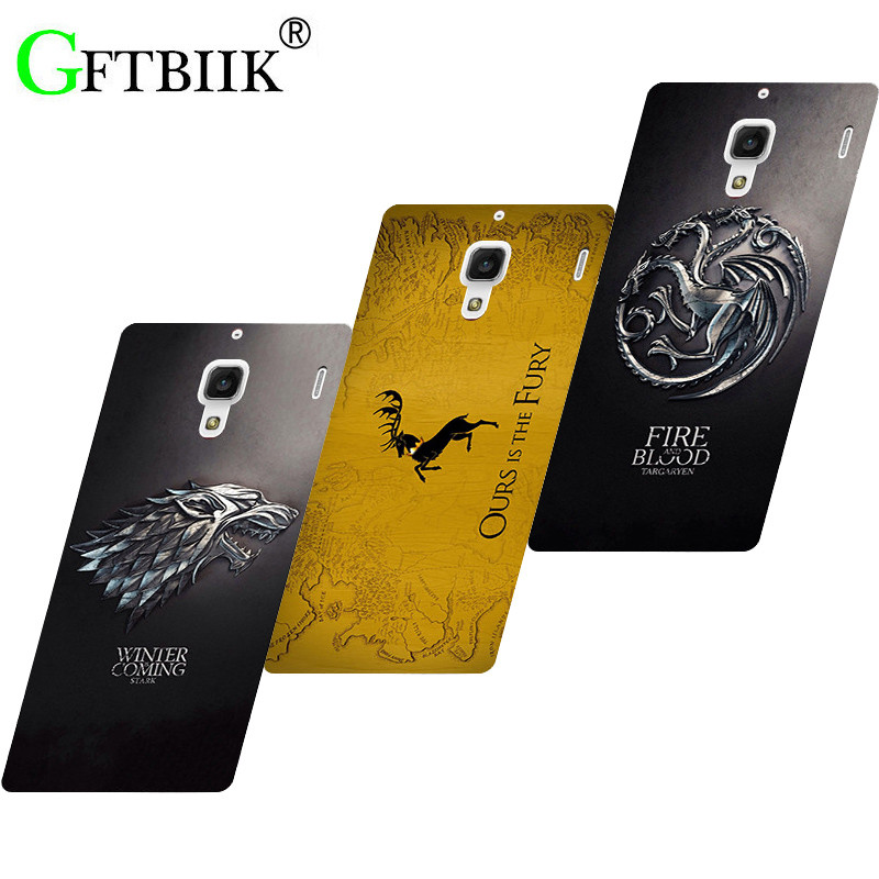 """Cute Cartoon Case For Xiaomi Redmi 1S 1 S 4.7"""" Cases Hard Plastic Case Fashion Printed Cover Game of Thrones 7"""