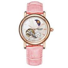 New Fashion Luxury Top Brand Women's Logo Watch Stainless Steel Relojes Clock Dress Women Casual mechanical hollow watches
