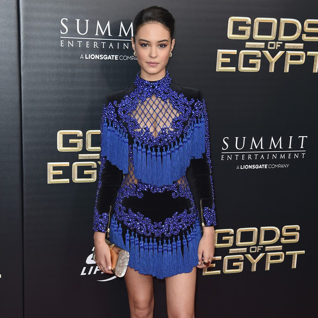 Black and royal blue dress