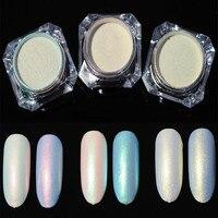 2 URODZONY g/pudło DOŚĆ Shining Paznokci Brokat Perłowy Proszek Do Paznokci Paznokci Pył Shimmer Powder 3 Kolory Syrenka Manicure Nail Art brokat